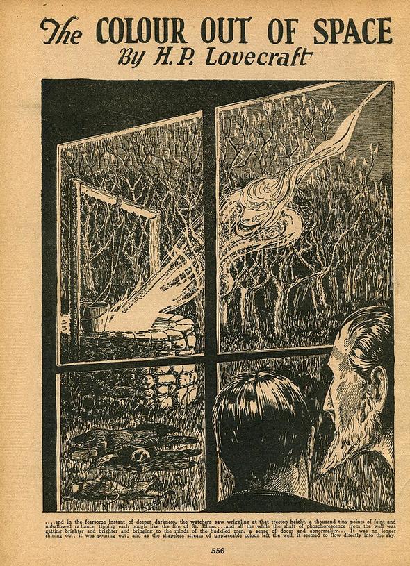 Couverture du magazine de 1927 au sein duquel la nouvelle de HPL est partue la première fois